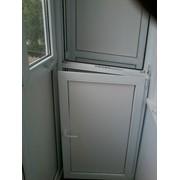 Установка шкафчиков из ПВХ любой сложности, размеров (балконы, лоджии, прочее.) фото