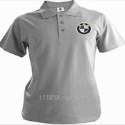Рубашка поло BMW серая фото