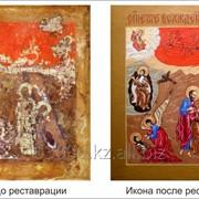 Реставрация картин, икон, антиквариата, резной мебели фото