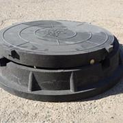 Люк полимер-песчаный тип Л для смотровых колодцев фото
