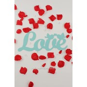 """Декор-надпись """"LOVE"""" с птичками/мята фото"""