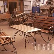 Мебель садовая кованая фото