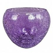 Стеклянное Кашпо шар 18 см (фиолетовое) Германия UT-00007414 фото