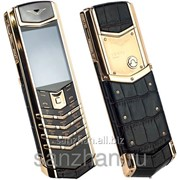 Телефон Vertu Signature S Design Gold Alligator 87132 фото
