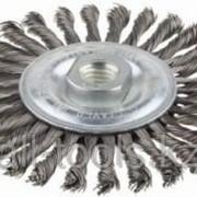 Щетка Зубр Эксперт дисковая для УШМ, плетеные пучки стальной проволоки 0,5мм, 100мм/М14 Код:35192-100_z01 фото