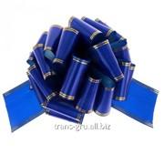 Бант-шар № 10 Золотые полосы , цвет синий фото