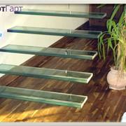 Скляні сходи з гартованого скла для будинку