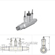 Кран шаровой с двумя воздушниками стальной в оцинкованной трубе-оболочке d=426 мм, s=7 мм, L=3500 мм фото