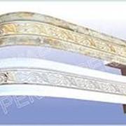"""Карниз потолочный """"Одиссея"""" с поворотами 3х пол. 3,0м белый серебро /4/ фото"""