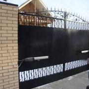 Ворота автоматические распашные высокоскоростные фото
