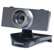 Веб-камера REAL-EL FC-140, grey фото