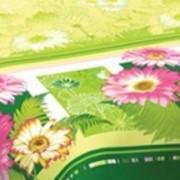 Ткань постельная Поплин 115 гр/м2 220 см Набивная Маргарита салатовый 514-1/S874- ZT фото