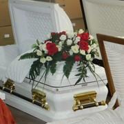 Элитный гроб металлический. фото