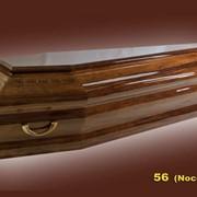 Гроб, модель 56. Однокрышечный, шестигранный фото