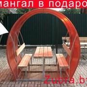 Беседка из поликарбоната Пион 2 метра+Мангал фото