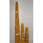 Свеча конусная № 13 ручной работы, из отборных сортов воска Пачка - 10 штук фото