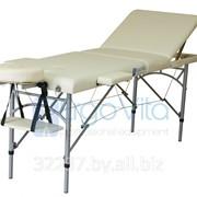 Складной массажный стол ErgoVita Master Plus Econom (3-х секционный, опора алюминий, кремовый) фото