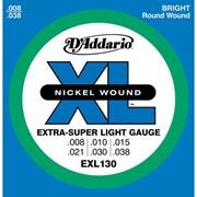 Струны для электрогитары D'Addario EXL130 XL Extra Super Light (6 струн .008-.038) фото