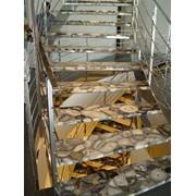 Лестницы из прирдного камня фото