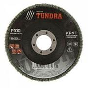 Круг лепестковый конический TUNDRA 115 х 22 мм, Р120 /10/200/ фото