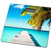 Весы напольные электронные, 0-180кг, Sakura SA-5072BP пляж и пальмы фото
