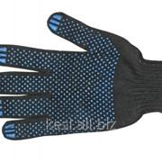 Перчатки ХБ ПВХ /6 ниток, 7 класс, черные фото