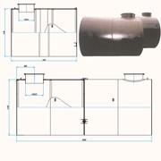 Резервуары горизонтальные двухстенные цилиндрические фото