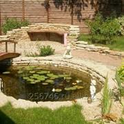 Строительство водоемов, водопадов, фонтанов фото