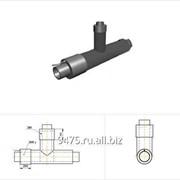 Тройник прямой стальной в полиэтиленовой трубе-оболочке с металлической заглушкой изоляции и торцевым кабелем вывода d1=630 мм, L=2000 мм, Н=1000 фото