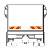 Набор из 2 светоотражающих панелей для грузовика фото