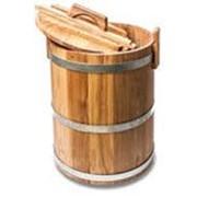 Кадка из дуба для воды и заготовки солений 30л. фото