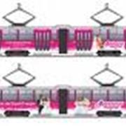 Реклама на транспорте фото