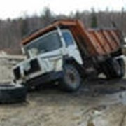 Утилизация грузовых автомобилей. фото
