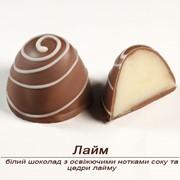 Шоколадные конфеты Лайм ручной работы фото