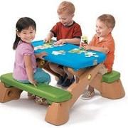 Детский стол со скамьями складной Пикник