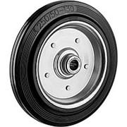 Колесо d=250мм, г/п 210кг, резина/металл, игольчатый подшипник, ЗУБР фото