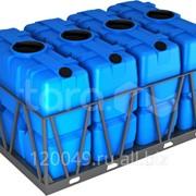 Пластиковая ёмкость в обрешётке 2000 литров (кассета из 4 шт) Арт.SK 2000x4 фото