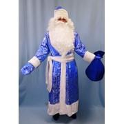 Костюм Дед Мороз (парча синий) фото