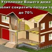 Утеплитель жилого дома бани сауны фото