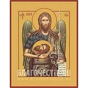 Храм Покрова Богородицы Иоанн, святой Пророк, Предтеча и Креститель Господень, икона на сусальном золоте (гладкий МДФ 6 мм без ковчега) Высота иконы фото