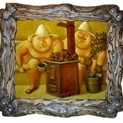 """Картина для бани """"2 товарища"""" фото"""