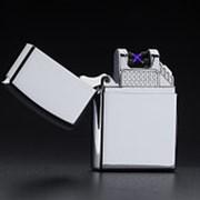 Электроимпульсная зажигалка с USB Золотая фото
