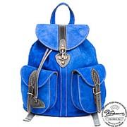 "Замшевый рюкзак ""Блюз"" (синий) фото"