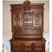 Резная мебель из дуба фото