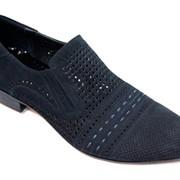 Туфли замшевые синие фото