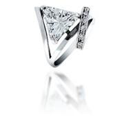Кольца из серебра 100190 ТРИНИТИ