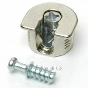 Стяжка-полкодерж. д/плиты 16мм, +дюбель L=11мм Firmax, цинк, никель 2 части фото
