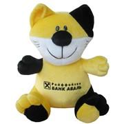 Корпоративная мягкая игрушка Котик с логотипом фото