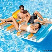 Матраc надувной для плавания с подушками intex 56897 фото