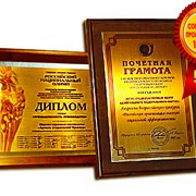 Сертификаты,дипломы,грамоты на металле фото